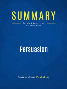 Persuasion (Review and Analysis of Lakhani's Book)