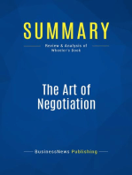 The Art of Negotiation (Review and Analysis of Wheeler's Book)