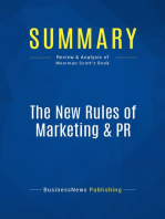 The New Rules of Marketing & PR (Review and Analysis of Meerman Scott's Book)
