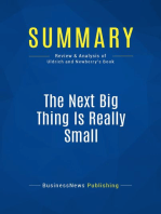 The Next Big Thing Is Really Small (Review and Analysis of Uldrich and Newberry's Book)