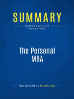 The Personal MBA (Review and Analysis of Kaufman's Book)