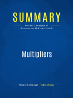 Multipliers (Review and Analysis of Wiseman and McKeown's Book)