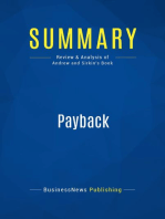 Payback (Review and Analysis of Andrew and Sirkin's Book)