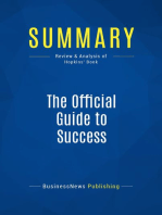 The Official Guide to Success (Review and Analysis of Hopkins' Book)