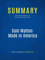 Sam Walton, Made In America (Review and Analysis of Walton and Huey's Book)