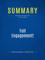 Full Engagement! (Review and Analysis of Tracy's Book)