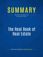 The Real Book of Real Estate (Review and Analysis of Kiyosaki's Book)