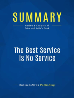 The Best Service Is No Service (Review and Analysis of Price and Jaffe's Book)