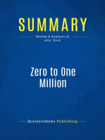 Zero to One Million (Review and Analysis of Allis' Book)