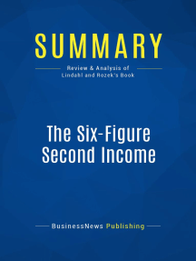 The Six-Figure Second Income (Review and Analysis of Lindahl and Rozek's Book)
