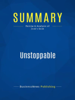 Unstoppable (Review and Analysis of Zook's Book)