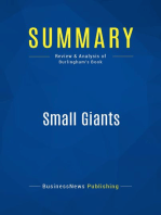 Small Giants (Review and Analysis of Burlingham's Book)