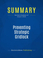 Preventing Strategic Gridlock (Review and Analysis of Harper's Book)