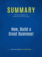Now, Build a Great Business! (Review and Analysis of Thompson and Tracy's Book)