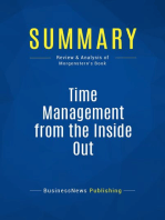 Time Management from the Inside Out (Review and Analysis of Morgenstern's Book)