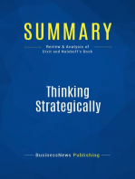 Thinking Strategically (Review and Analysis of Dixit and Nalebuff's Book)