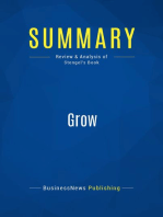 Grow (Review and Analysis of Stengel's Book)