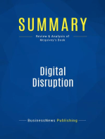 Digital Disruption (Review and Analysis of Mcquivey's Book)