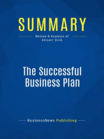The Successful Business Plan (Review and Analysis of Abrams' Book)