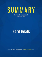 Hard Goals (Review and Analysis of Murphy's Book)