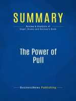 The Power of Pull (Review and Analysis of Hagel, Brown and Davison's Book)