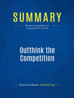 Outthink the Competition (Review and Analysis of Krippendorff's Book)