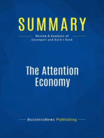 The Attention Economy (Review and Analysis of Davenport and Beck's Book)