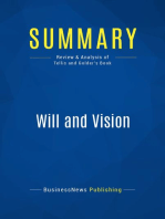 Will and Vision (Review and Analysis of Tellis and Golder's Book)