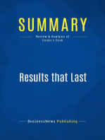 Results that Last (Review and Analysis of Studer's Book)