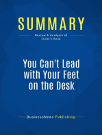 You Can't Lead with Your Feet on the Desk (Review and Analysis of Fuller's Book)