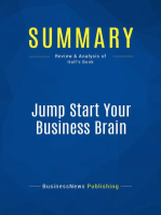 Jump Start Your Business Brain (Review and Analysis of Hall's Book)