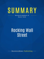 Rocking Wall Street (Review and Analysis of Marks' Book)