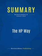 The HP Way (Review and Analysis of Packard's Book)