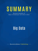 Big Data (Review and Analysis of Mayer-Schonberger and Cukier's Book)