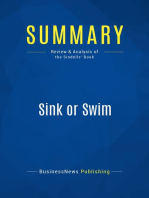 Sink or Swim (Review and Analysis of the Sindells' Book)