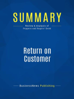 Return on Customer (Review and Analysis of Peppers and Rogers' Book)