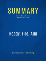 Ready, Fire, Aim (Review and Analysis of Masterson's Book)