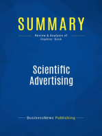 Scientific Advertising (Review and Analysis of Hopkins' Book)