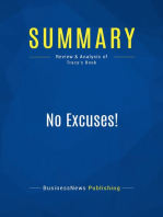 No Excuses! (Review and Analysis of Tracy's Book)