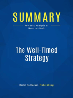 The Well-Timed Strategy (Review and Analysis of Navarro's Book)