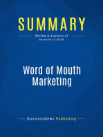 Word of Mouth Marketing (Review and Analysis of Sernovitz's Book)
