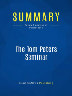 The Tom Peters Seminar (Review and Analysis of Peters' Book)