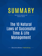 The 10 Natural Laws of Successful Time & Life Management (Review and Analysis of Smith's Book)