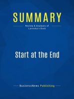 Start at the End (Review and Analysis of Lavinsky's Book)
