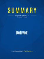 Deliver! (Review and Analysis of Champy's Book)