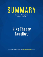 Kiss Theory Goodbye (Review and Analysis of Prosen's Book)