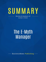 The E-Myth Manager (Review and Analysis of Gerber's Book)