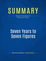 Seven Years to Seven Figures (Review and Analysis of Masterson's Book)