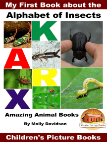 My First Book about the Alphabet of Insects: Amazing Animal Books - Children's Picture Books