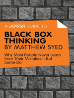 A Joosr Guide to… Black Box Thinking by Matthew Syed
